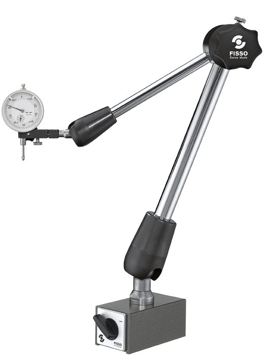 FISSO Classic Line Model: 6400-63 F + MM - With Switch Magnet - 3D articulated gauging arm